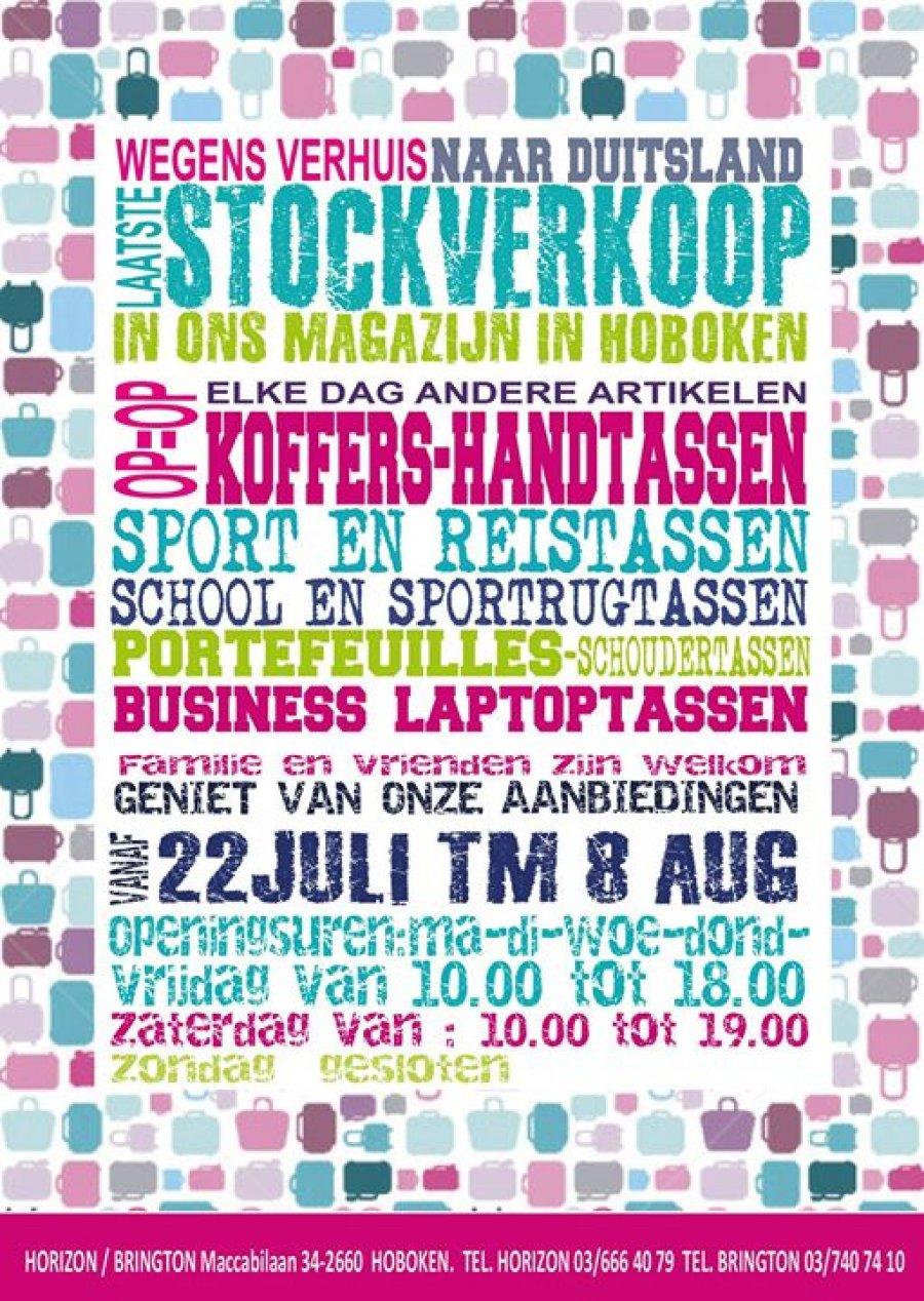 70c3a89c905 Wegens verhuis naar Duitsland doen we een laatste stockverkoop met mooie  prijzen! Handtassen, koffers, reistassen, .