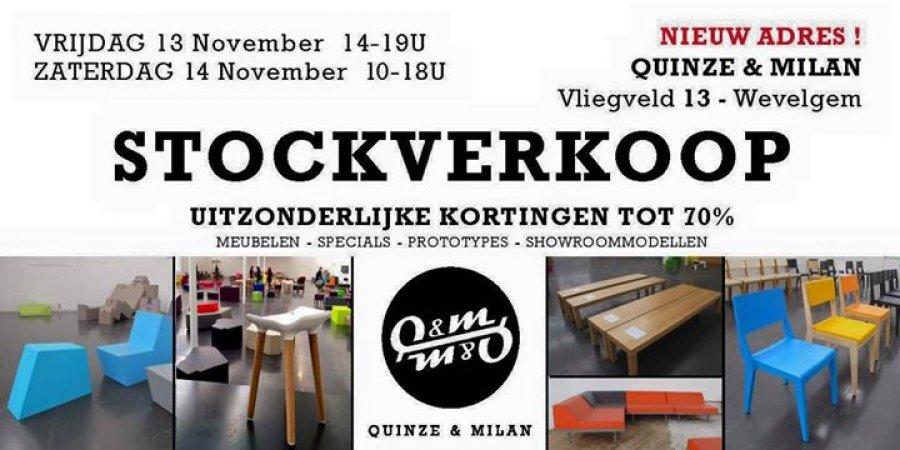 Stockverkoop quinze milan stockverkoop in wevelgem for Uitverkoop design meubelen